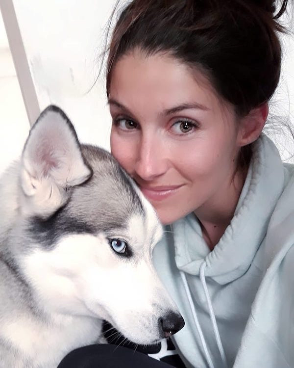 It's a toss up between Elodie and her dog for most gorgeous