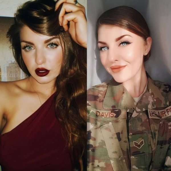 41 Girls With And Without Uniform
