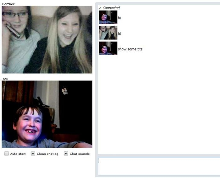 Offensive 8-year-old Boy on Chatroulette