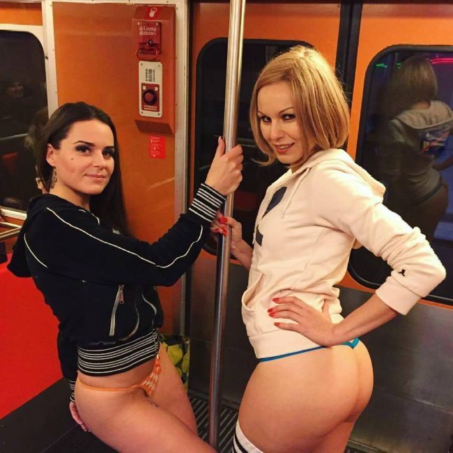 Travelers Strip Down To Their Underwear For No Pants Subway Ride Day