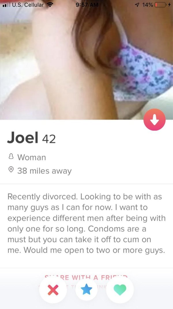 34 Sexy And Nasty Tinder Profiles