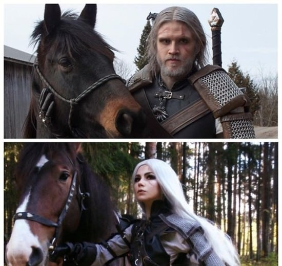 Geralt of Rivia Witcher 3 cosplay by oichichan