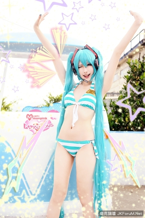 First sound in a bikini?! Water dressed as sweet誘 people more uplime!  虛擬 idol is a real person