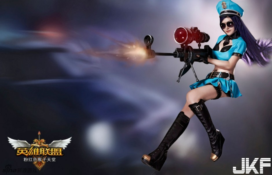 """""""Heroes League"""" 驚豔 sexy leather city policewoman"""
