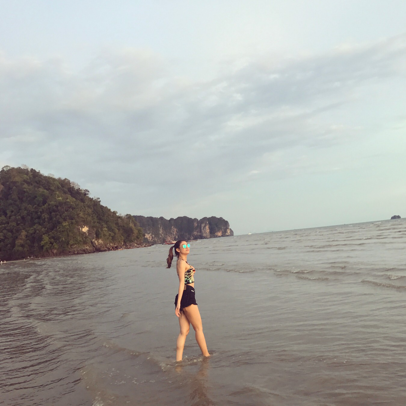 Thinzar Wint Kyaw Happy Time At The Beach In Myanmar New Holiday