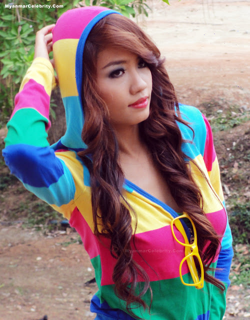 Myanmar New Face Model, Babe Maung's Hot Outdoor Fashion