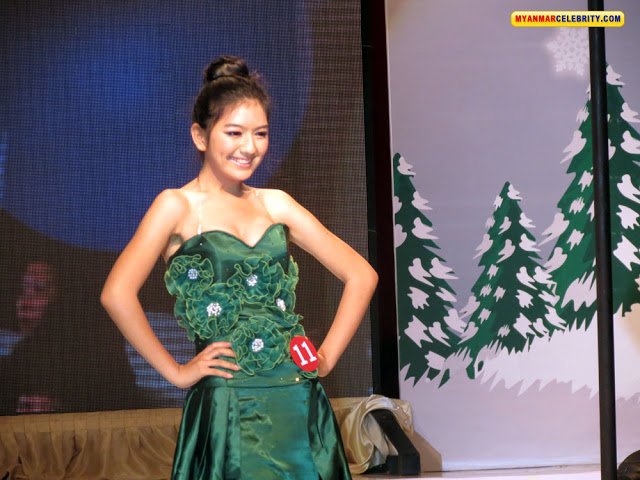 Miss Christmas 2011: Beautiful Contestants in Green Fashion Dress
