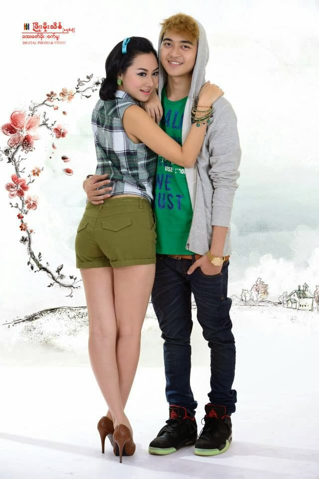 Yair Yint Aung and Thinzar Nwe Win Couple Photoshoot