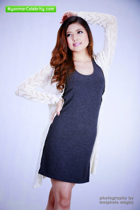 Pretty Model & Actress Shwe Thamee's Casual Fashion