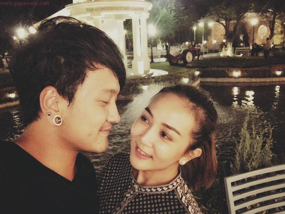 Zwe Yan Aung La and Wyne Su Khine Thein Shopping And Visiting Together In Bangkok