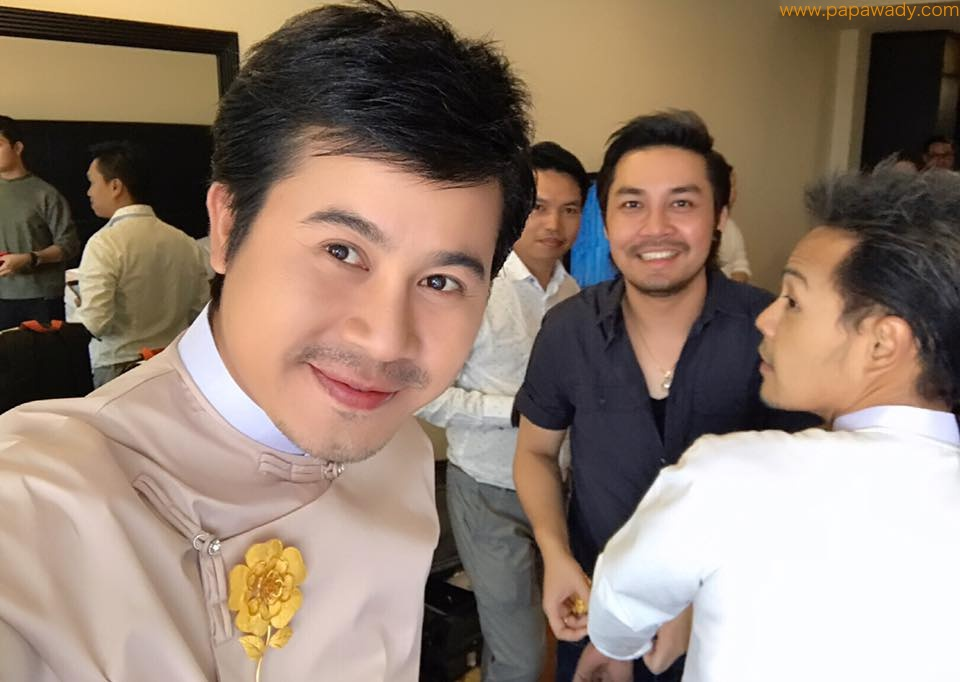 Nay Toe and Hnin Si Group Preparing For Photoshoot Before Academy Night