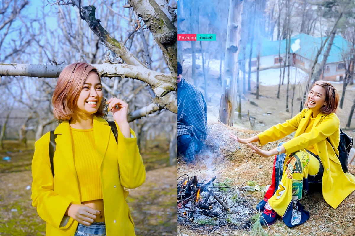 Nwe Nwe Tun – A Beauty in Yellow Outfit