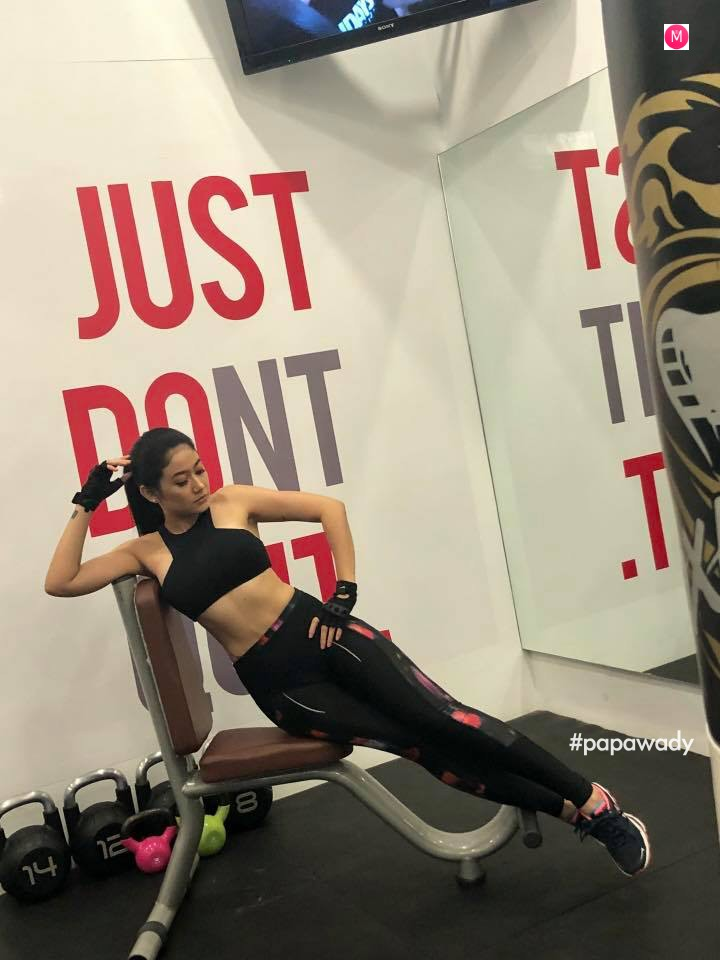 Thinzar Wint Kyaw Exercise Time Snaps
