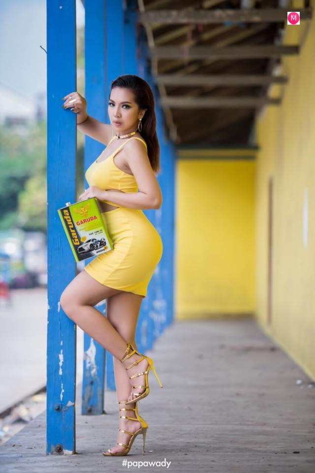 Warso Moe Oo Photoshoot , Night Out Snaps and Chaung Thar Beach Photoshoot
